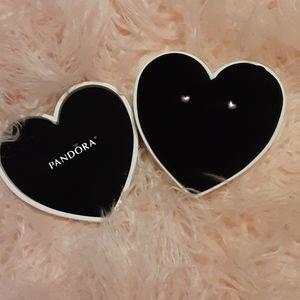 Pandora Silver Heart Studs